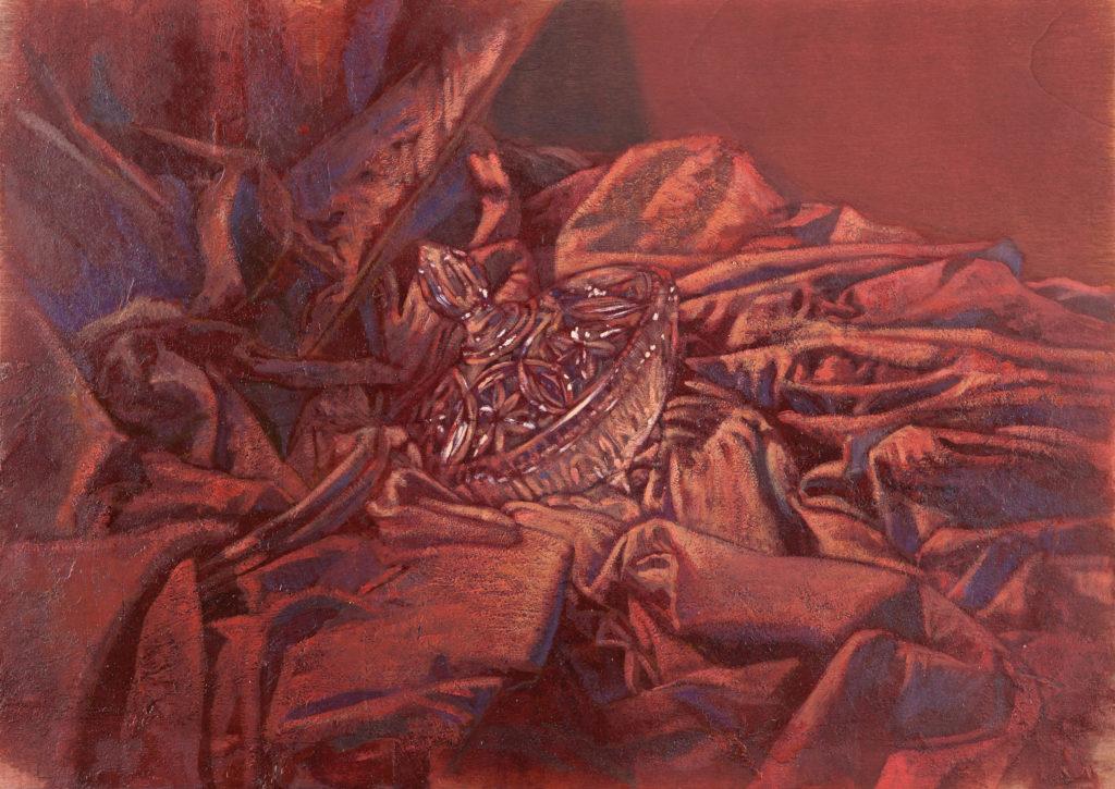 Bombonera tallada entre oleaje de tela I-Juan Vaquerizo