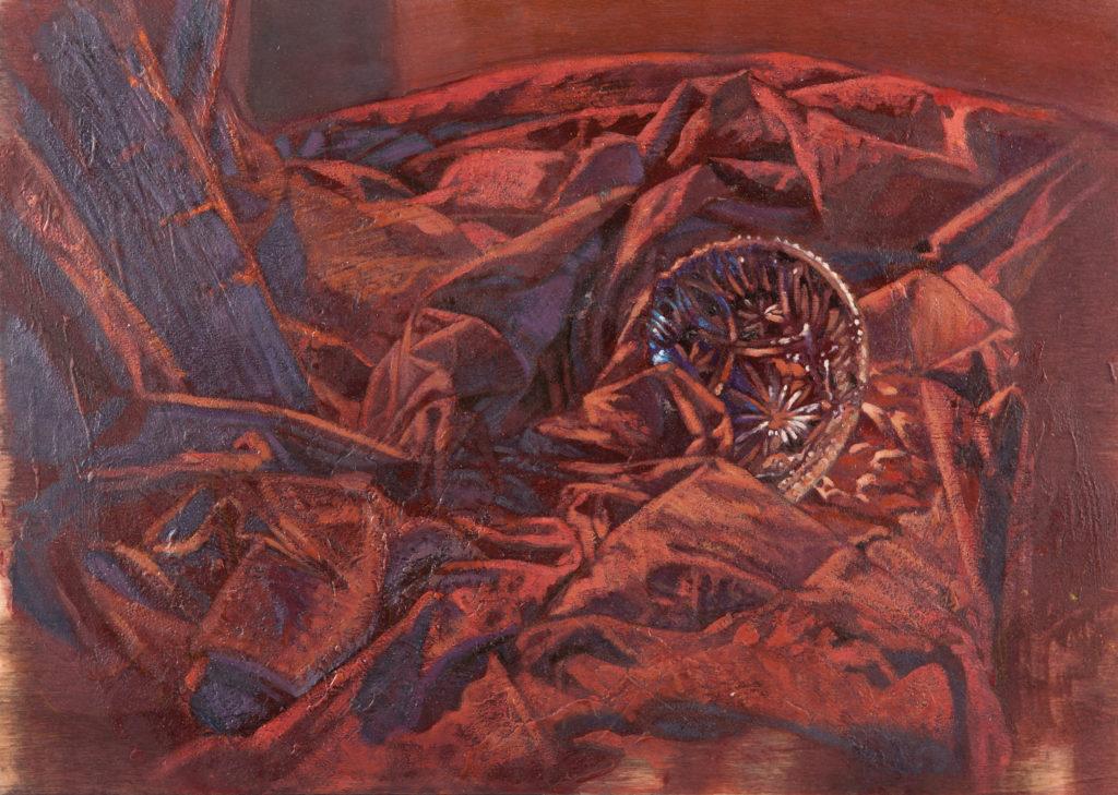 Bombonera tallada entre oleaje de tela III-Juan Vaquerizo