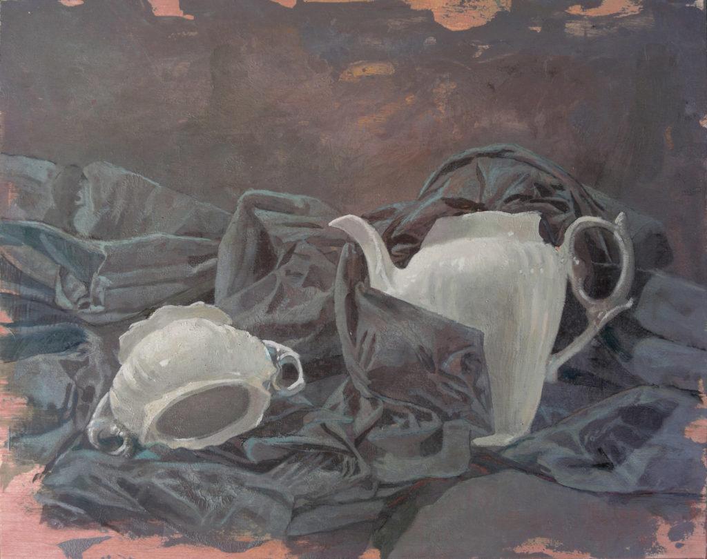 Porcelana y lienzo I-Juan Vaquerizo