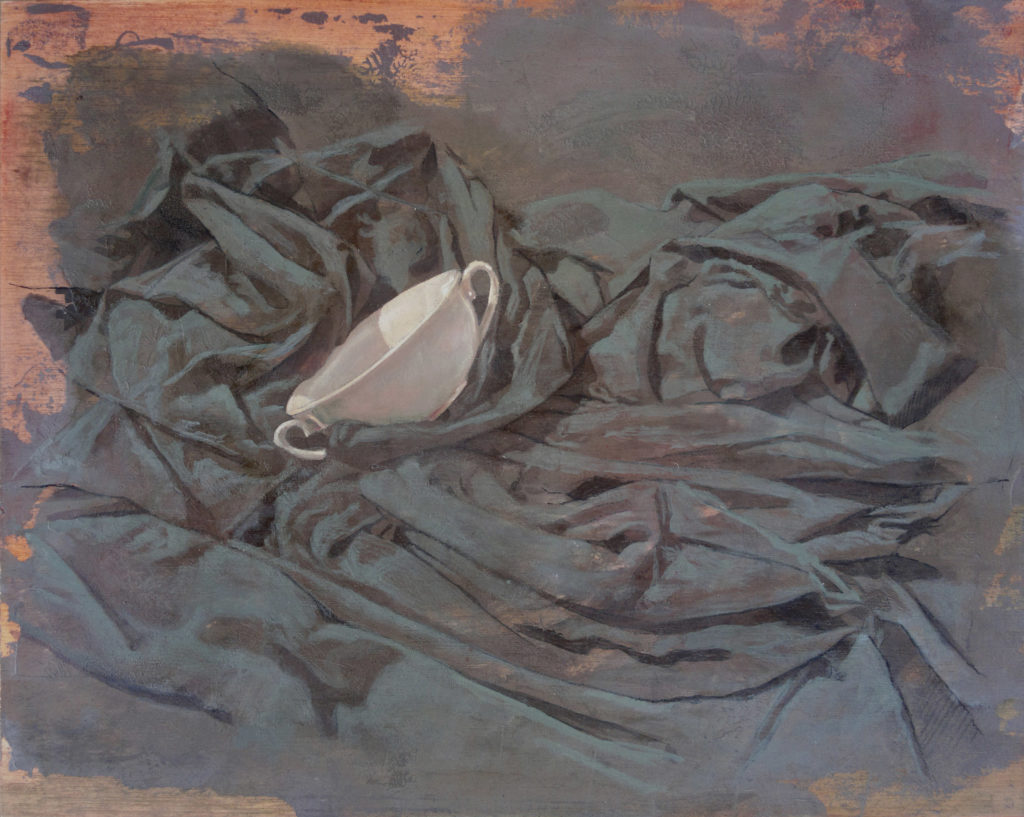 Porcelana y lienzo II-Juan Vaquerizo