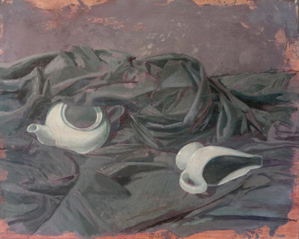 Porcelana y lienzo III-Juan Vaquerizo
