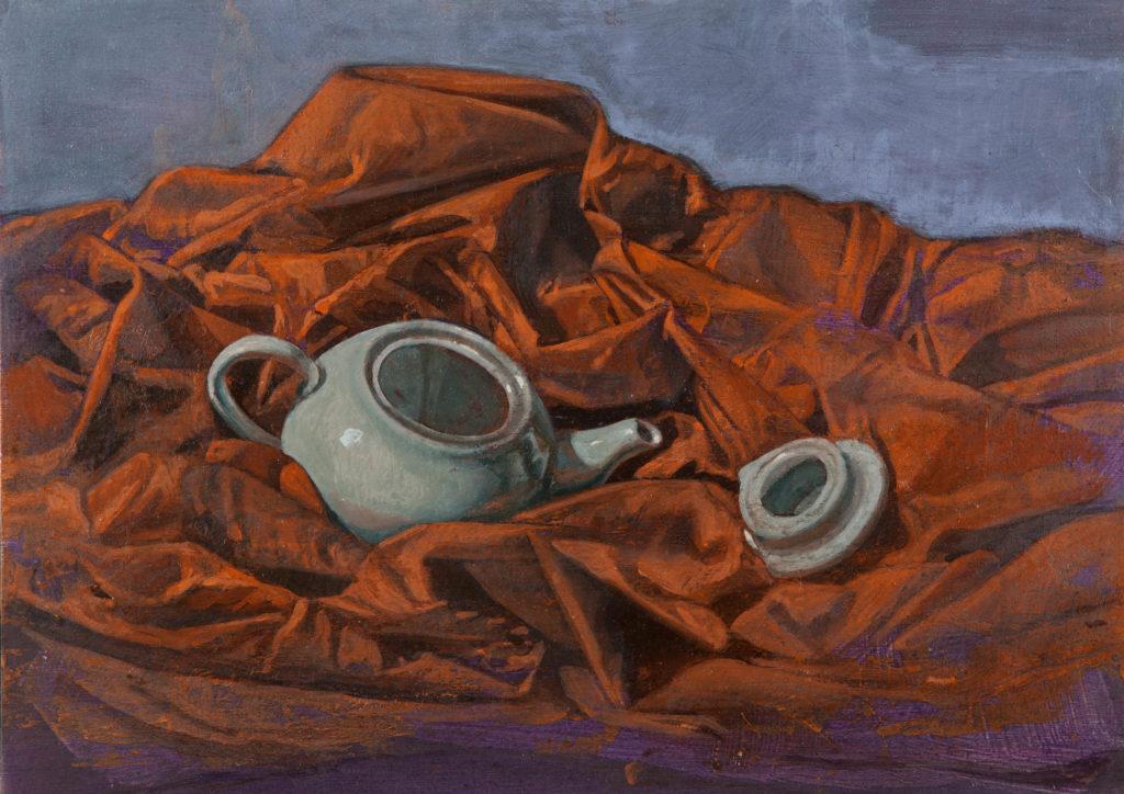 Porcelana y lienzo IV-Juan Vaquerizo