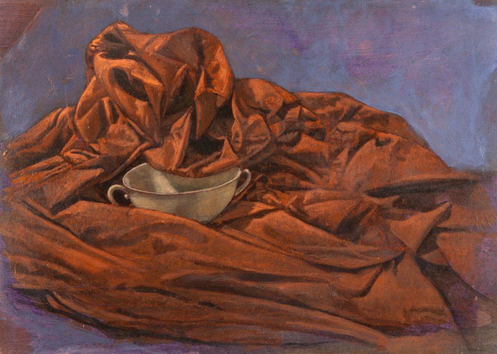 Porcelana y lienzo V-Juan Vaquerizo